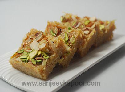 How To Make Seviyan Ki Burfi Recipe By Masterchef Sanjeev Kapoor Recipe Burfi Recipe Indian Desserts Recipes
