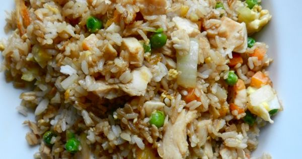 Better-Than-Takeout Chicken Fried Rice- used brown rice & low sodium soy sauce.