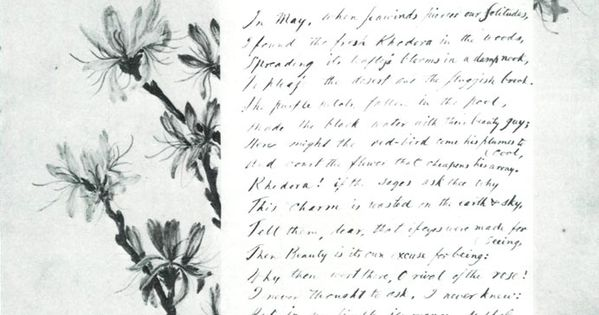 an overview of ralph waldo emersons poem the rhodora Ralph waldo emerson's the rhodora log in or sign up to track your course progress, gain access to final exams, and get a free certificate of completion back to '211: ralph waldo emerson.