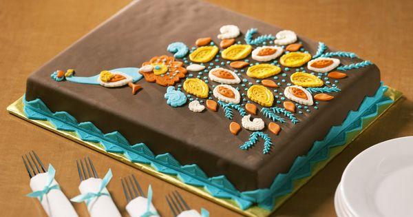 Paisley Peacock Cake Tutorial.. NICE