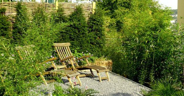 Gartengestaltung mit bambus splitt und stahl garten for Gartengestaltung bambus