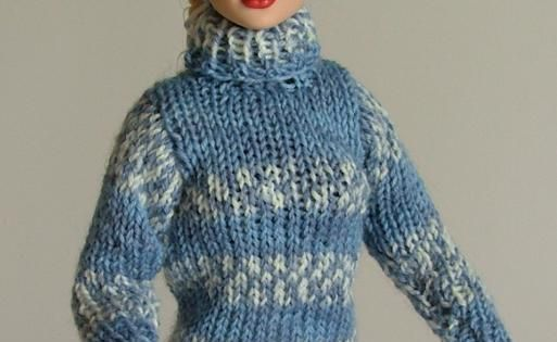 Free Knitting Patterns For Tonner Dolls : ABC Knitting Patterns - Fair Isle Sweater and Headband for ...