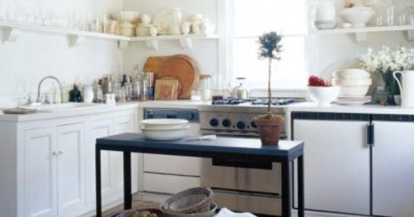 Aquarium stand turned kitchen island kitchen ideas for Kitchen ideas elle
