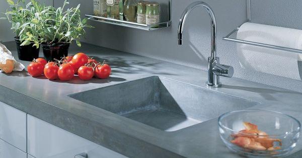 Betonnen aanrecht inspiratie pinterest keukenblad aanrecht en keuken - Keuken wereld thuis ...