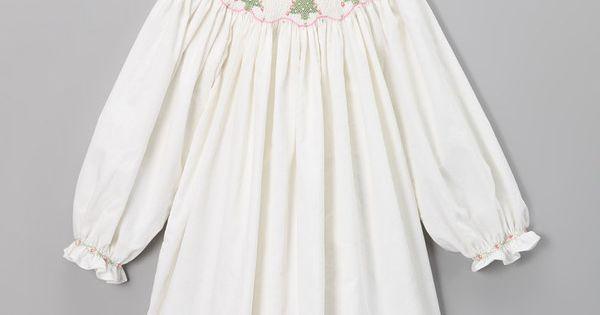 White christmas tree bishop dress infant toddler amp girls white