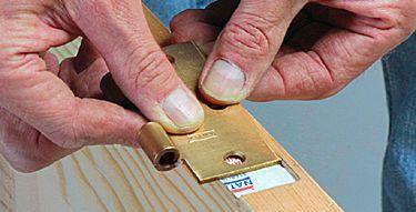 Mortising A Hinge With A Chisel Home Repair Hinges Wood Diy