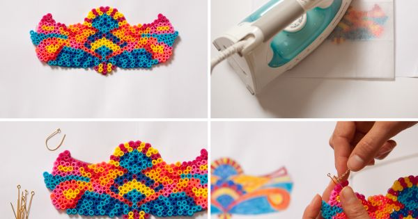 DIY HAMA perler bead necklace | photo tutorial