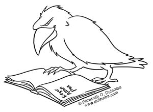 Dulemba Coloring Page Tuesday Poe S Raven Coloring Pages Greyscale Coloring Books Tinkerbell Coloring Pages
