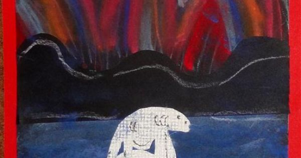 Kids Artists: Northern lights - use chalk pastels and ...