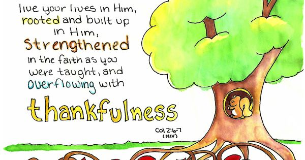 Doodle Through The Bible: Colossians 2:6-7, Rooted and ...