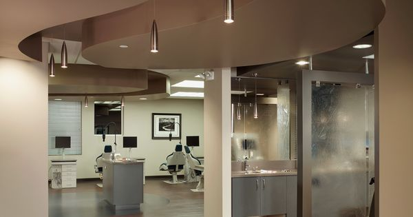 Straight lines with curved ceiling soffit arch 101 for Office design 101