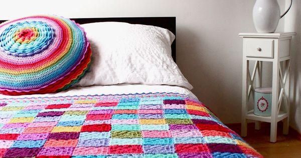 Solid Granny Square Blanket crochet