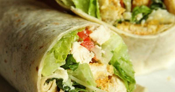 Chicken Caesar Wraps - I love these for a light lunch or