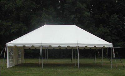 Celina Tents 15x20poletentgalv 15x20 White Complete Galvanized