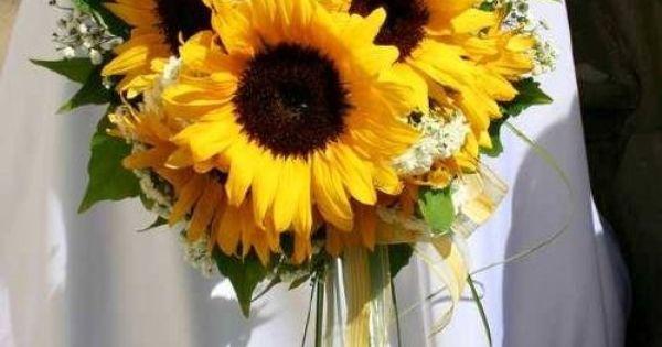 Sunflower wedding bouquet for rustic wedding mariage pinterest bouquets de tournesol pour - Bouquet de tournesol ...