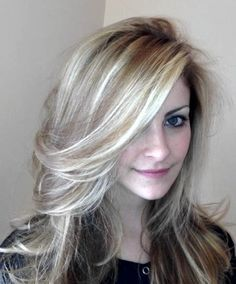 Gray Highlights In Brown Hair Blond Highlights Cover Gray Image