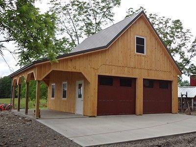 Custom Built Wooden 24 X26 Barn Garage Barn Garage Plans Barn Garage Barn Style