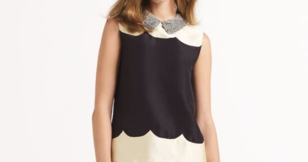 Kate Spade Francoise top. Scallops and a Peter Pan collar make this