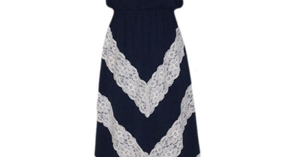 Love the Lace Chevron Maxi Dress