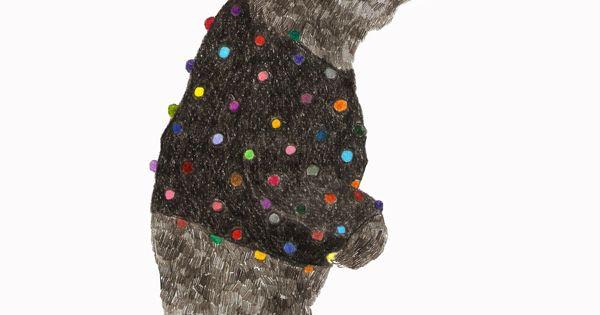 Oso pompom (ilustración inspirada en una foto de Nikolai Zinoviev) Mayo 2014