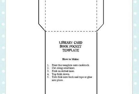 free library card book pocket template printable organization card book