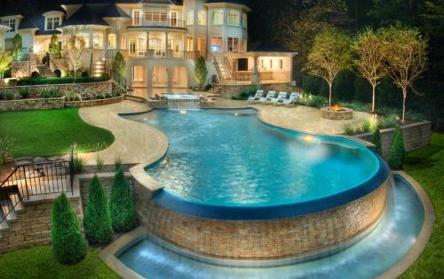 dream house- love the beautiful backyard with swimming pool