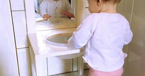 Kinderwaschenbecken bzw waschtisch nach montessori art for Raumgestaltung nach montessori