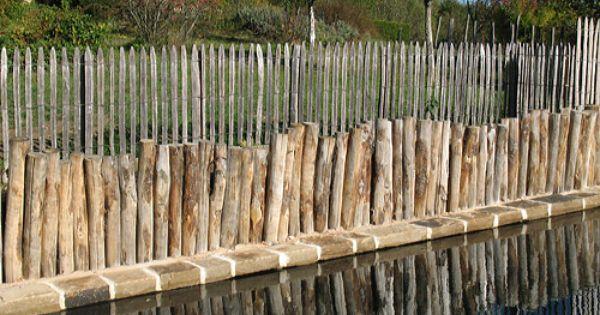 Cl tures ganivelle ou fencing cl ture et treillage de jardin en bois de ch taigner castanea - Cloture de jardin chataignier ...