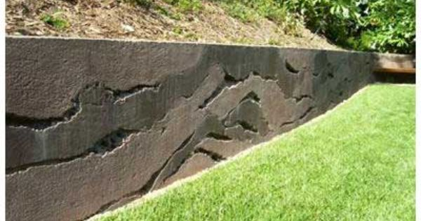 Retaining wall ideas garden pinterest retaining for Cost of poured concrete walls