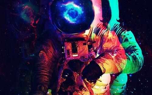 Colorful astronaut | ESPAÇO SIDERAL OUTER SPACE ...