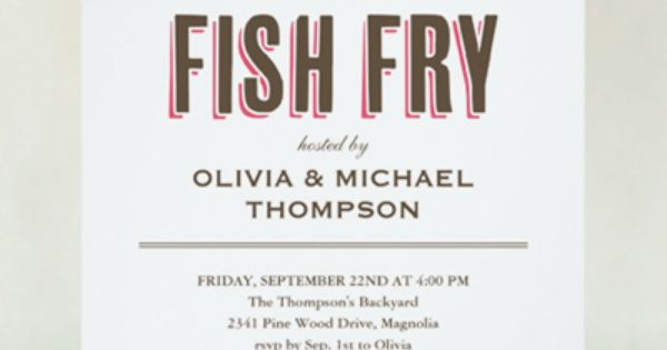 Fish fry invitations seafood boil pinterest fish fry for Fish fry menu ideas