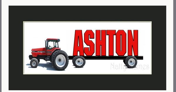 Case ih tractor personalized name print framed by for International harvester room decor