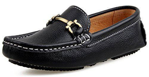 Kid Toddler Boy Girl Slip on Moccasin Shoes Flats Leather Loafer Sneakers USA