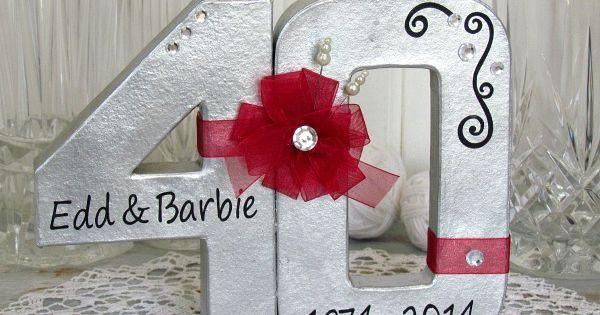 40th Wedding Anniversary Gift Wedding anniversary gifts, DIY home ...