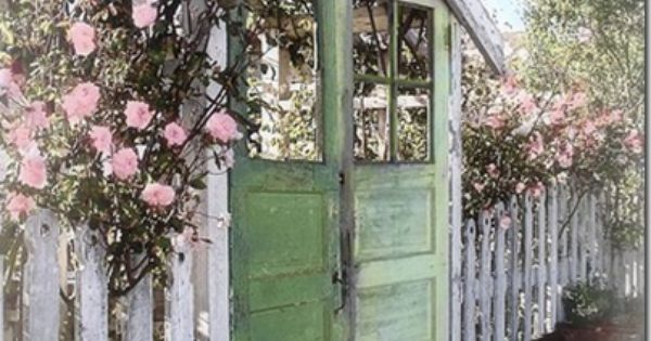 Old Doors in the Garden... I love the look of a salvaged