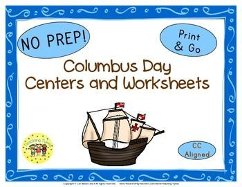 Columbus Day Glyph Book List Art Project Writing Activity Websites Group Activity And 9 Thematic Writing Center Activities Teaching Teachers Pay Teachers Free