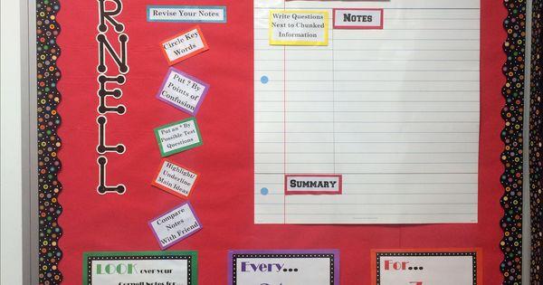 Avid Cornell Notes Bulletin Board Avid Pinterest