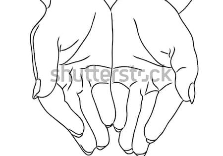 Hands Clip Art Vector Clip Art Online Royalty Free Public Domain How To Draw Hands Hands Holding Heart Praying Hands Drawing