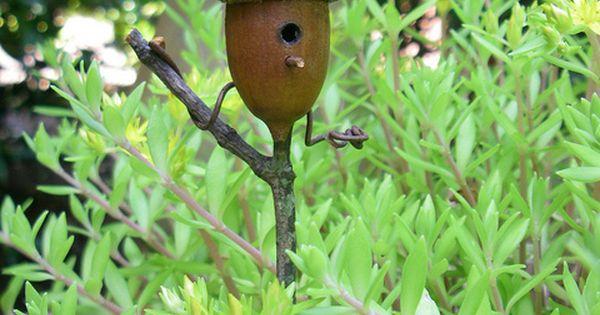 acorn birdhouse for fairy garden