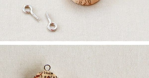 Would be cute as wine glass charms! DIY Wine Cork Pendants DIY
