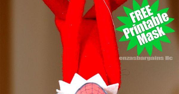 Elf on the Shelf Spider Man Mask: FREE Printable Mask ...