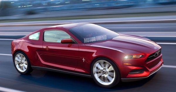 2015 Ford Mustang Rendering front three quarter motion Photo