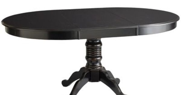Ronan Pedestal Extension Table Black From Pier 1 Round For 4 Or