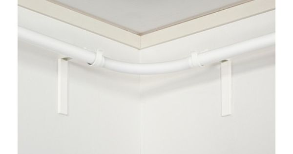 Hugad tringle rideau raccord d 39 angle blanc ikea for Tringle d angle pour rideau