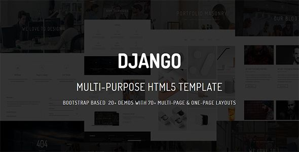 Django Is A Powerful Responsive Amp Raw Multi Purpose Multi Page Amp One Page Html5 Template Build Whatever You Html5 Templates Template Site First Page