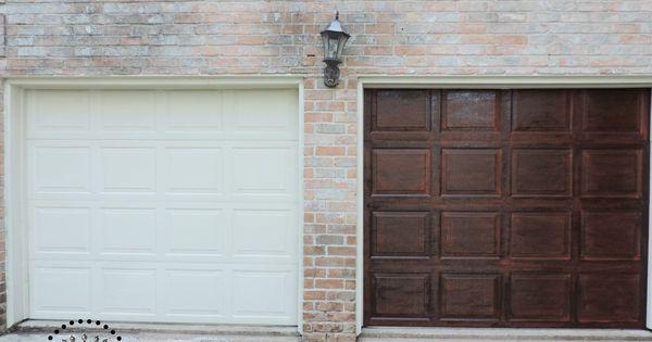 Garage Door Makeover Using Gel Stain Interior
