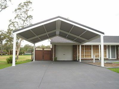 Details about diy carport kit 6x7m custom sizes diy for Patio home plans with rear garage