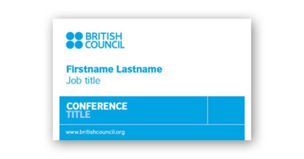 British Council | Name Badges | Pinterest | British Council
