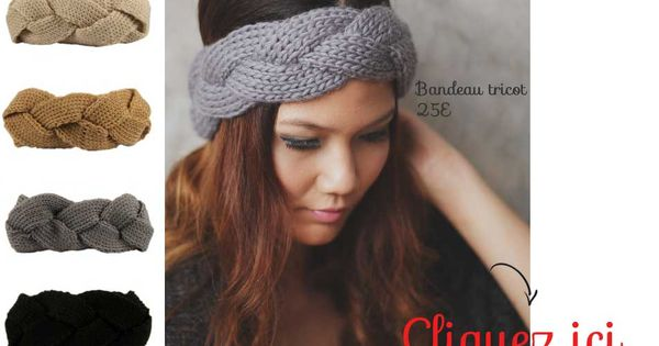 bandeau cheveux turban en maille torsad hiver snood. Black Bedroom Furniture Sets. Home Design Ideas