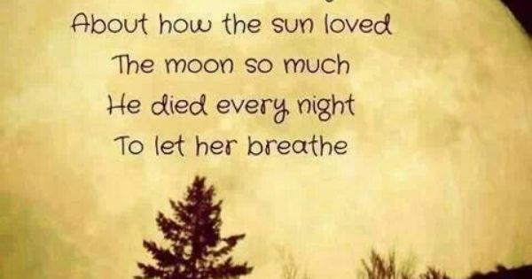 Love Quote With Sun And Moon